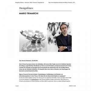 Designline Wohnen - Interviews: Mario Trimarchi