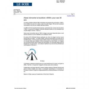 www.lesoir.be  - Alessi réinvente la bouilloire «9093» pour ses 30  ans